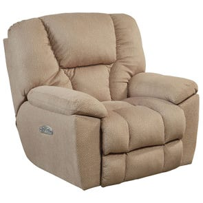 Catnapper Owens Power Lay Flat Recliner with Power Headrest in Doe