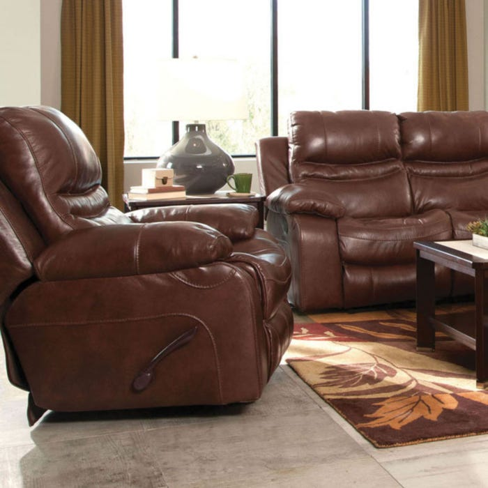 Fine Catnapper Patton Leather Power Lay Flat Recliner In Walnut Pabps2019 Chair Design Images Pabps2019Com