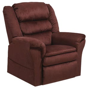 Catnapper Preston Power Lift Recliner in Berry with Pillowtop