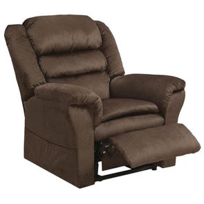 Catnapper Preston Power Lift Recliner in Coffee with Pillowtop