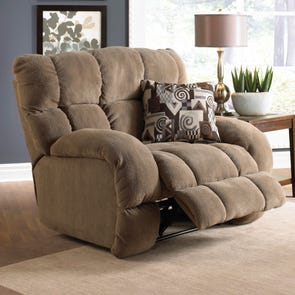 Catnapper Siesta Lay Flat Recliner in Porcini with Power Option