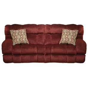 Catnapper Siesta Lay Flat Reclining Sofa in Wine with Power Option