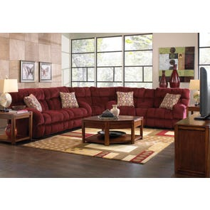 Catnapper Siesta Reclining Sectional in Wine