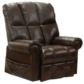 Catnapper Stallworth Power Lift Full Lay-Out Chaise Recliner in Godiva