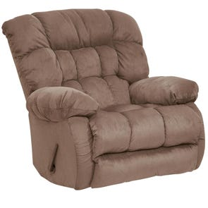 Catnapper Teddy Bear Chaise Swivel Glider Recliner in Saddle