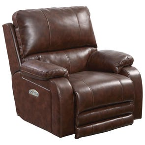 Catnapper Thornton Power Lay Flat Recliner with Power Headrest in Java