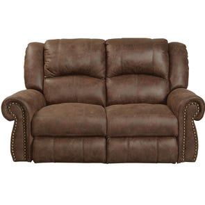 Catnapper Westin Rocking Reclining Loveseat in Tanner