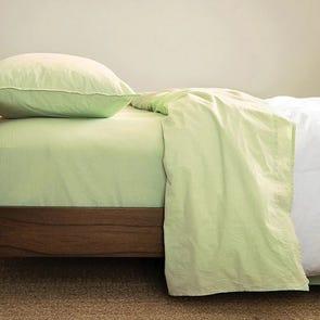 CIMINO HOME Chambray Nile Green Queen Sheet Set