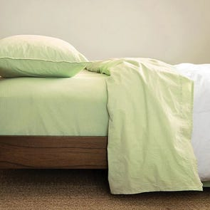 CIMINO HOME Chambray Nile Green Queen Sheet Set