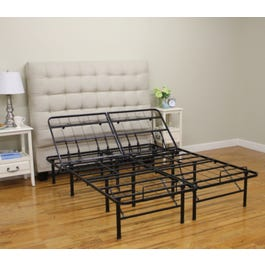 brand new 195d9 54066 Classic Brands Hercules Adjustable 14-Inch Heavy Duty Metal Platform Style  Full Size Bed Frame
