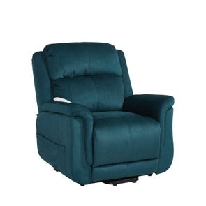 Clearance Serta Comfortlift Hampton Two Motor Power Lift Recliner in Seaglass Blue by Novo Home OVFB101804