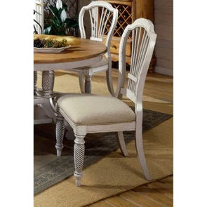 Clearance Hillsdale Furniture Wilshire Dining Chairs in Antique White - Set of 2 OVFB101806
