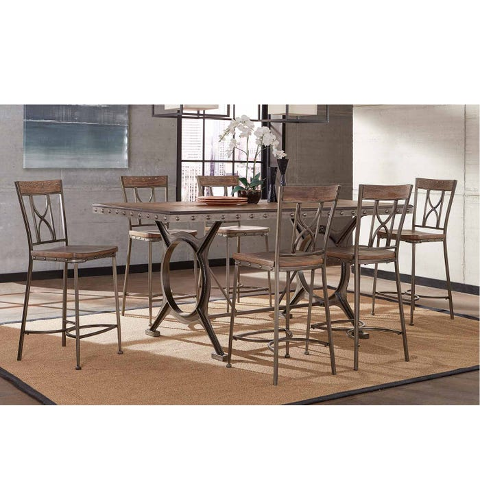 Clearance Hillsdale Furniture Paddock 7 Piece Counter Height Dining