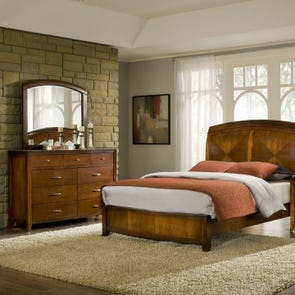 Clearance Modus Furniture Brighton 6 Piece Queen Bedroom Set OVFN111804