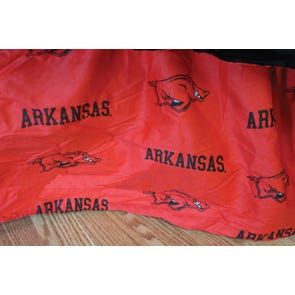 College Covers University of Arkansas Dust Ruffle