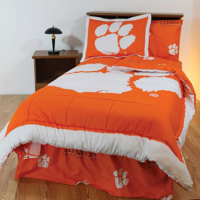 College Covers Clemson University Bed