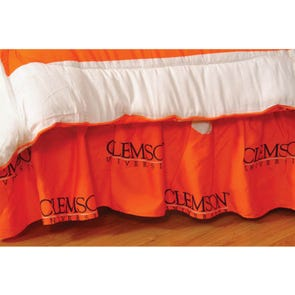 College Covers Clemson University Dust Ruffle