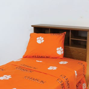 College Covers Clemson University Sheet Set