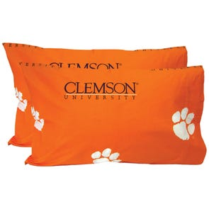 College Covers Clemson University Pillowcase Pair
