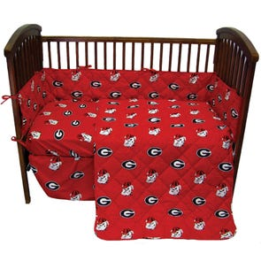 College Covers University of Georgia Crib Set