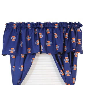 College Covers University of Illinois Printed Curtain Panels