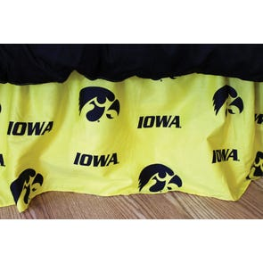College Covers University of Iowa Dust Ruffle