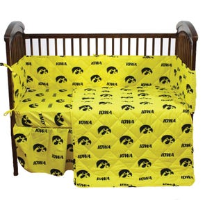 College Covers University of Iowa 5 Piece Crib Set