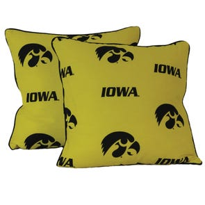 College Covers University of Iowa Decorative Pillow Set of 2