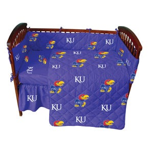College Covers University of Kansas Crib Set