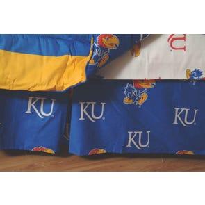College Covers University of Kansas Dust Ruffle