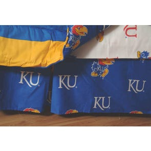 College Covers University of Kansas Dust Ruffle