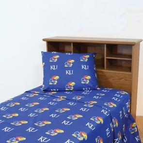 College Covers University of Kansas Sheet Set