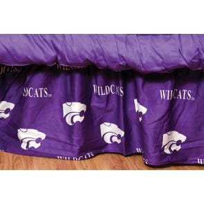 College Covers Kansas State University Bed Skirt