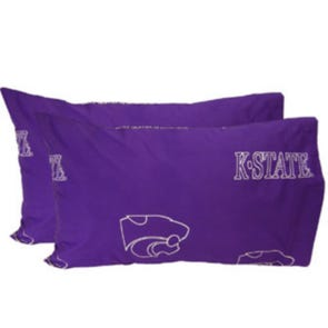 College Covers Kansas State University Standard Pillowcase Pair