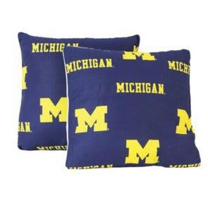 College Covers University of Michigan Decorative Pillow Set