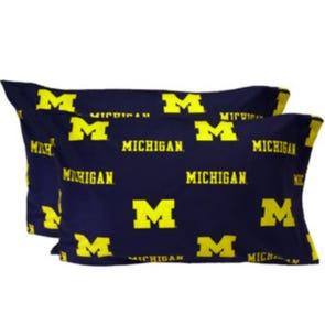 College Covers University of Michigan King Pillowcase Pair