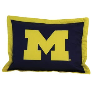 College Covers University of Michigan Quilted Sham