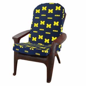 College Covers University of Michigan Adirondack Cushion