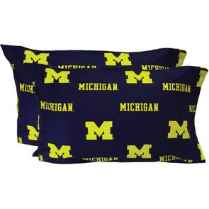 College Covers University of Michigan Pillowcase Pair