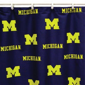 LSU Printed Shower Curtain by College Covers