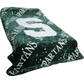 College Covers Michigan State Throw Blanket