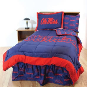 College Covers University of Mississippi Bed in a Bag