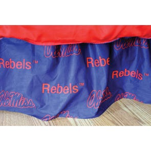 College Covers University of Mississippi Printed Dust Ruffle