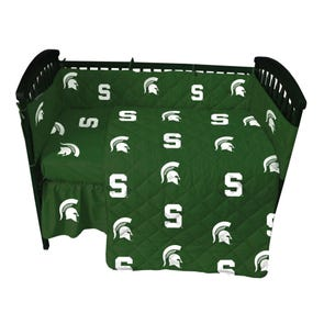 College Covers Michigan State University Crib Set