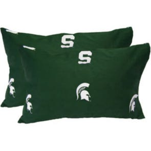 College Covers Michigan State University King Pillowcase Pair