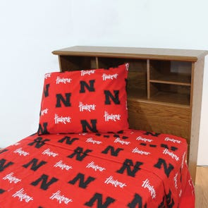 College Covers University of Nebraska Sheet Set