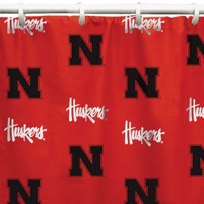 NC State Printed Shower Curtain by College Covers
