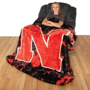 College Covers Nebraska Throw Blanket