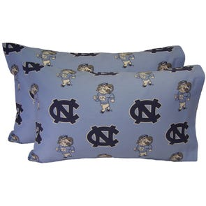 College Covers University of North Carolina Pillowcase Pair