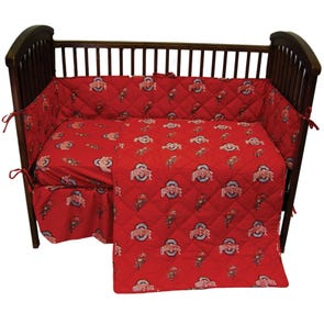 College Covers Ohio State University Crib Set